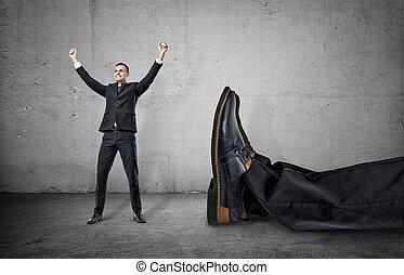 posición, gigante, el suyo, pierna, Arriba, brazos, otro,...