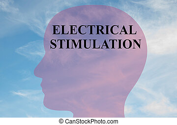 Electrical Stimulation concept - Render illustration of...