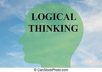 Logical Thinking concept - Render illustration of 'LOGICAL...