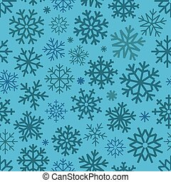 Different vector snowflakes seamless patter. ice crystal...