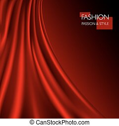 vector illustration of smooth elegant luxury red silk or satin texture. Can be used as background