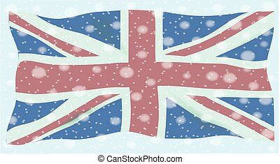 Union Jack Flag Snowflakes - The British Union Flag, or...