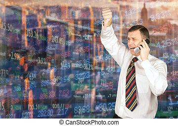 股票, 自然, 經紀人, 感情, 交換