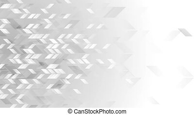 Abstract grey tech geometric video animation - Abstract grey...