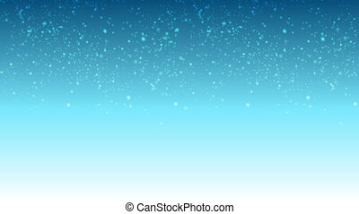 Blue video animation with falling snow