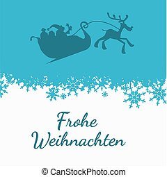 German Merry Christmas card