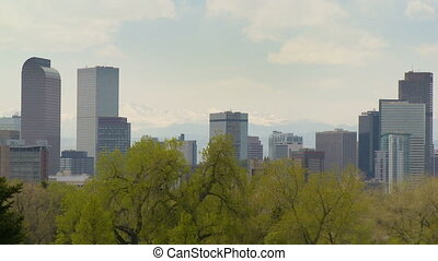 Downtown Denver Skyline - The Denver, Colorado skyline on a...