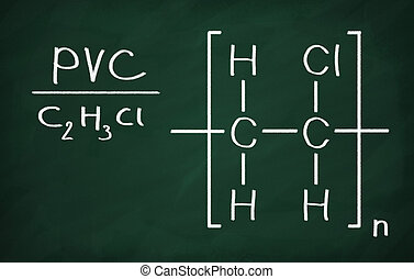 Structural model of PVC on the blackboard.