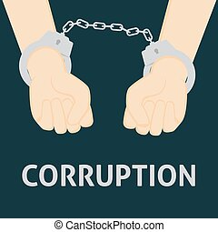 Corrupt People with Handcuffed Hand