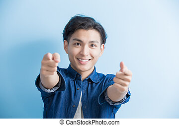 man student pointing to you