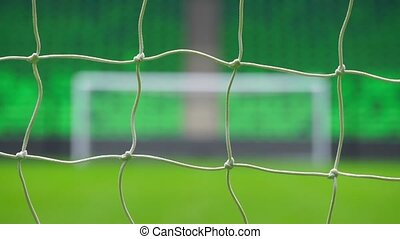 Soccer or football goal through the net. Russia World Cup. -...