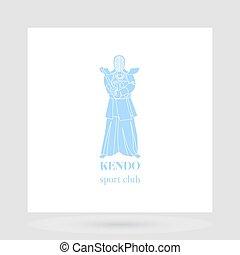 Kendo fight club logo design
