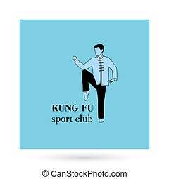 Kung fu sport club logo design