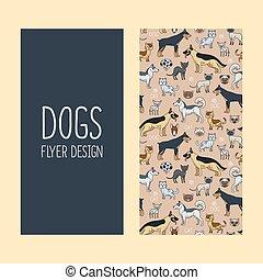 Dogs vertical flyer design