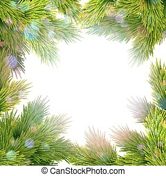 Frame of tree branches. EPS 10 - Festive Christmas greeting...