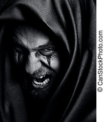 Rage of angry evil spooky malefic man - Rage of angry evil...