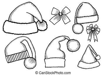 doodle hats Santa Claus