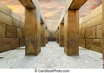 Valley Temple of Khafre - The valley temple of khafre, on...