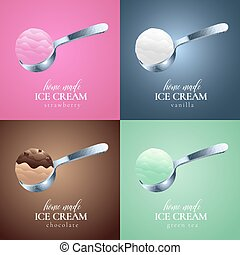 Collection of ice cream vector logo, sign, symbol, emblem,...