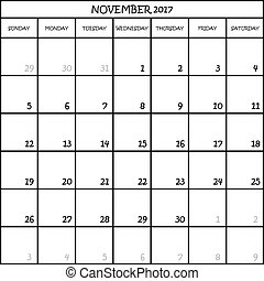 11 2017 TRANSPARENT BACKGROUND - CALENDAR PLANNER MONTH...