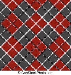 Red Gray White Chess Board Christmas Background.