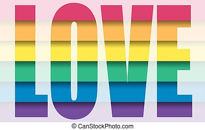 Vector gay flag. Gay pride flag. Flag of gay love. Gay...