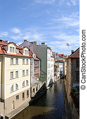 Prague Czech Republic - River with buildings in Prague,...
