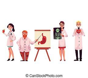 Doctors - general practitioner, radiologist, heart surgeon...