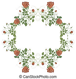 Floral frame - Abstract floral frame, element for design,...