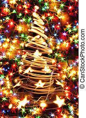 xmas background - christmas color lights as nice christmas...