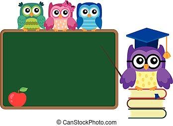 Stylized school owl theme