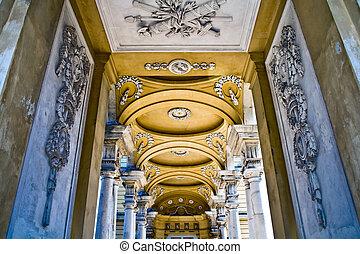 Corridor of Gloriette at Schonbrunn Palace