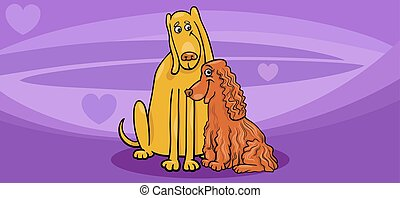 valentine card with dog couple - Valentines Day Greeting...