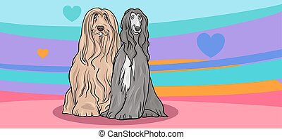 valentine card with dogs in love - Valentines Day Greeting...