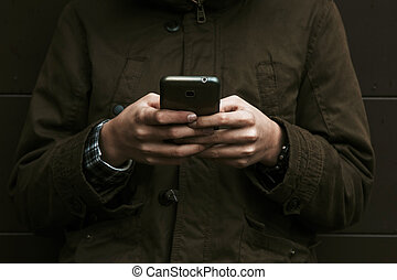 child with mobile phone, background, technology