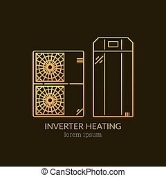 House Heating Logo Template - House Heating Single Logo....