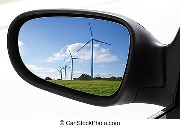 rearview car driving mirror electric windmills - rearview...