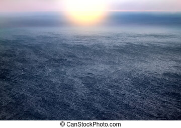 Arctic ocean from height of bird flight - Global warming....