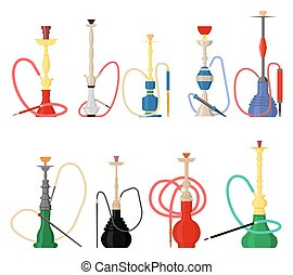 Set of hookah with pipe for smoking tobacco and shisha....