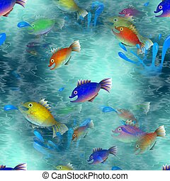 Seamless Jumping Fish Wallpaper - A completely seamless...