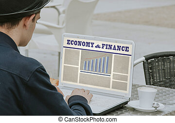 man by consulting the website of economy and finance on the...