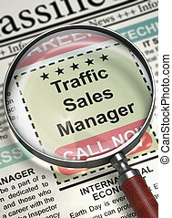 We are Hiring Traffic Sales Manager. 3D. - Traffic Sales...