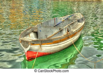Itailian Row Boat - An old itailan row boat processed to...