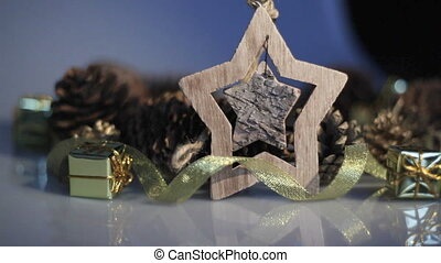 Wooden Toy star and Christmas Decor