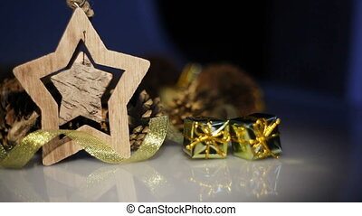 Wooden Toy star and Christmas Decor.