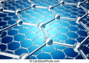 concept, Nanotechnologie, vorm, graphene, Abstract,...
