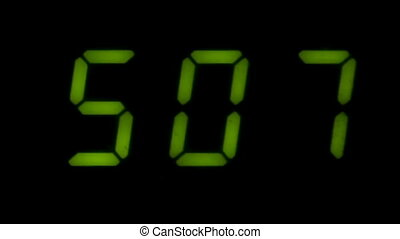 Digital led counter from five in dark