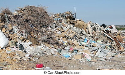 Large garbage dump waste - Volgograd, Russian Federation –...