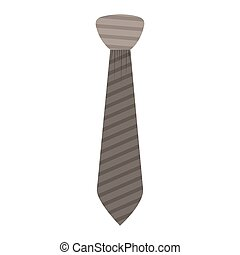 Isolated necktie design - Necktie icon. Cloth fashion style...