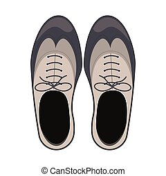 Isolated male shoes design - Shoes icon. Cloth fashion style...
